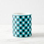 Lunares del azul del trullo taza