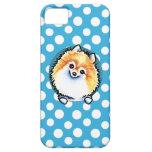 Lunares del bonito de Pomeranian iPhone 5 Coberturas