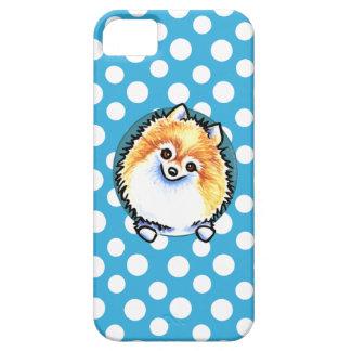 Lunares del bonito de Pomeranian iPhone 5 Fundas