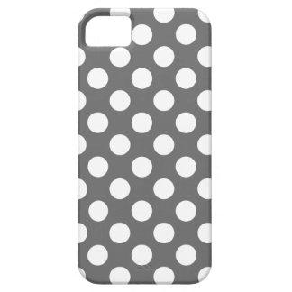Lunares del carbón de leña y del blanco iPhone 5 Case-Mate protector