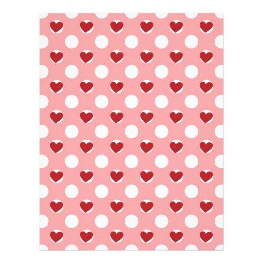 Lunares del corazón de la tarjeta del día de San Membrete A Diseño