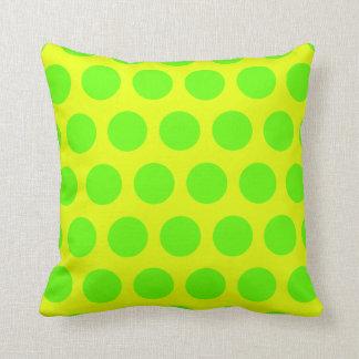 Lunares del limón y de la verde lima cojines