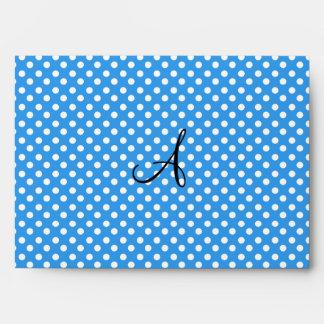 Lunares del monograma azules y blancos