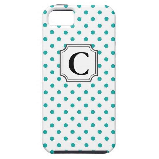 Lunares del monograma - caso del iPhone iPhone 5 Cárcasa