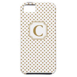 Lunares del monograma - caso del iPhone iPhone 5 Fundas