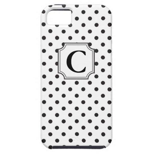 Lunares del monograma - caso del iPhone iPhone 5 Case-Mate Cobertura