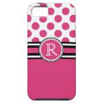 Lunares del monograma de las rosas fuertes iPhone 5 Case-Mate carcasa