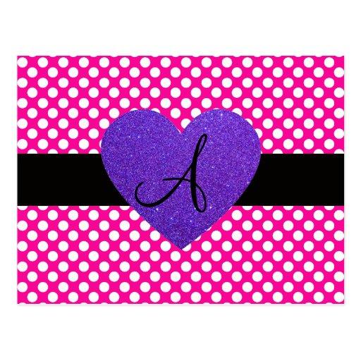 Lunares del monograma de Purple Heart Postales