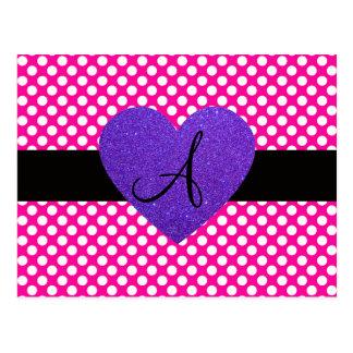 Lunares del monograma de Purple Heart Postal