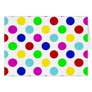 Lunares del multicolor tarjeta de felicitación