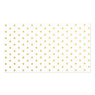 Lunares del oro de la moda tarjetas de negocios
