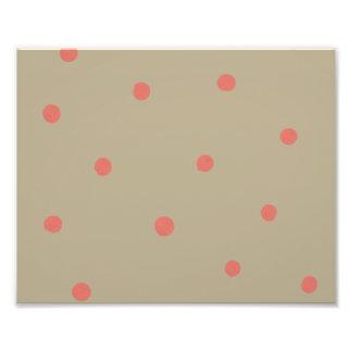 Lunares del rosa de color salmón en Brown beige pi Impresiones Fotograficas