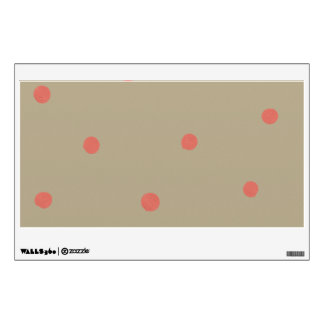 Lunares del rosa de color salmón en Brown beige pi Vinilo Decorativo