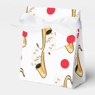 Lunares del saxofón, rojos y blancos cajas para regalos de boda