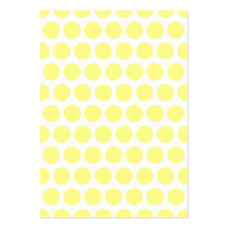 Lunares del sorbete del limón tarjetas de visita grandes