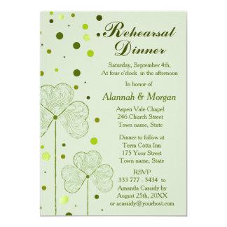 Lunares del trébol que casan la cena 2 del ensayo comunicado personalizado