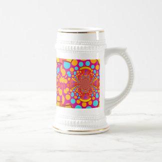 Lunares del trullo del rosa del caleidoscopio del jarra de cerveza