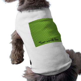 Lunares del verde de guisante en verde camisetas mascota