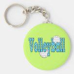 Lunares del voleibol llavero personalizado