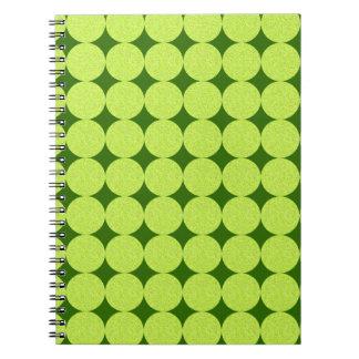 Lunares e ilusión Diamante-Óptica Spiral Notebook