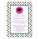 Lunares e invitación de la graduación del