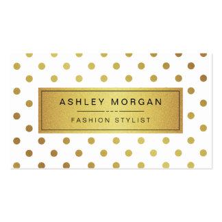 Lunares elegantes del brillo del oro plantillas de tarjetas de visita