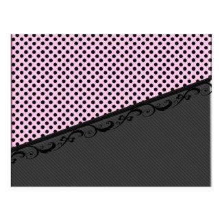 Lunares elegantes del cordón de las rayas tarjeta postal