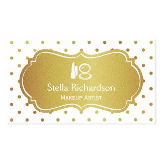 Lunares elegantes del oro blanco del estilista del tarjetas de visita