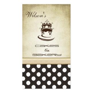 Lunares elegantes elegantes del vintage de la tort tarjeta de visita