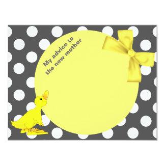 """Lunares elegantes y tarjeta Ducky del consejo de Invitación 4.25"""" X 5.5"""""""