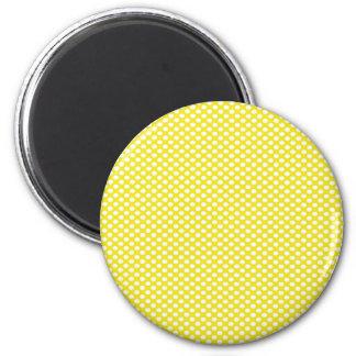 Lunares en amarillo imán redondo 5 cm