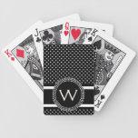 Lunares en blanco y negro con el círculo de la MOD Baraja Cartas De Poker