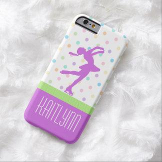 Lunares en colores pastel brillantes del patinador funda barely there iPhone 6