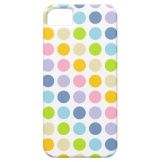 Lunares en colores pastel del arco iris funda para iPhone SE/5/5s