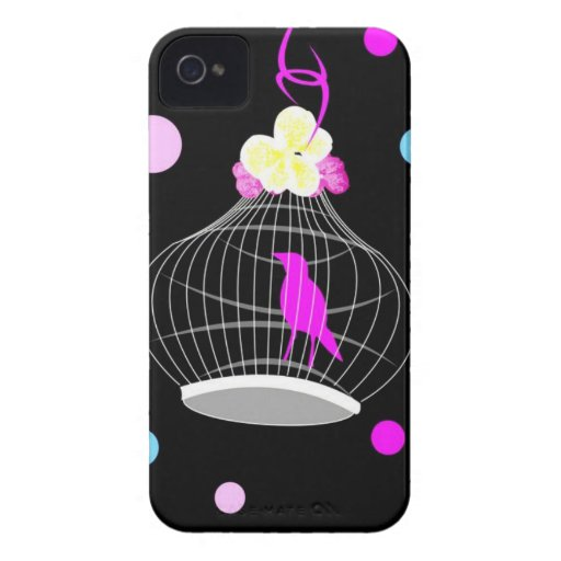 Lunares en colores pastel iPhone 4 protector