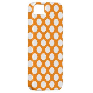 Lunares en el naranja iPhone 5 carcasas
