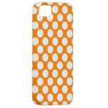 Lunares en el naranja iPhone 5 cárcasas