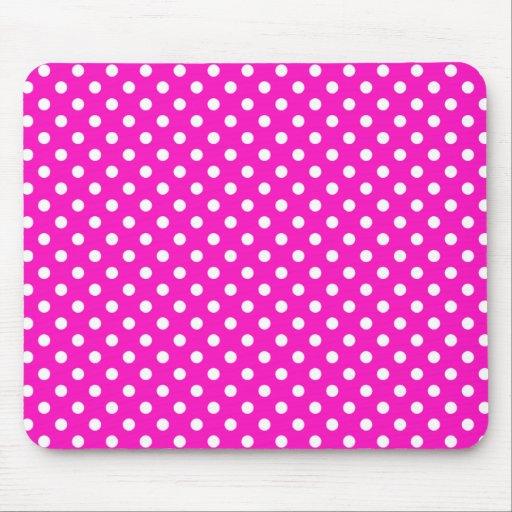 Lunares en el rosa impactante Mousepad