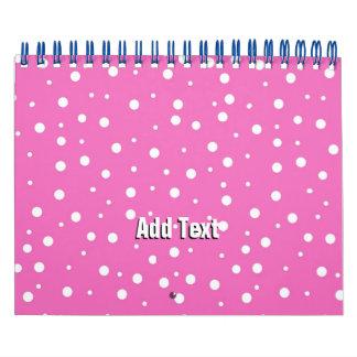 Lunares en fondo rosado calendario de pared
