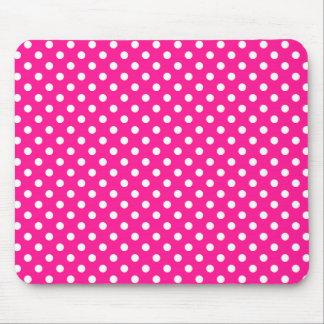 Lunares en Mousepad de color rosa oscuro Alfombrillas De Ratón