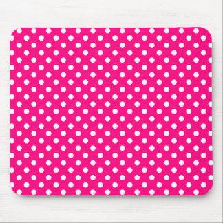 Lunares en Mousepad rosado brillante Alfombrillas De Raton