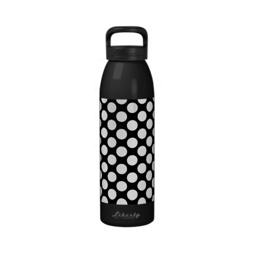 Lunares en negro botella de beber