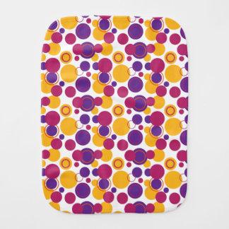 Lunares en rosa, amarillo y la púrpura - paño del paños para bebé