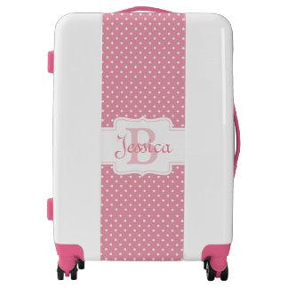 Lunares en rosa maletas