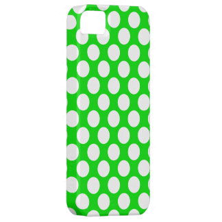Lunares en verde iPhone 5 funda