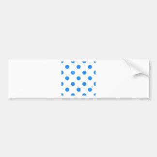 Lunares enormes - azul de Dodger en blanco Etiqueta De Parachoque