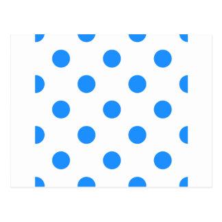 Lunares enormes - azul de Dodger en blanco Tarjetas Postales