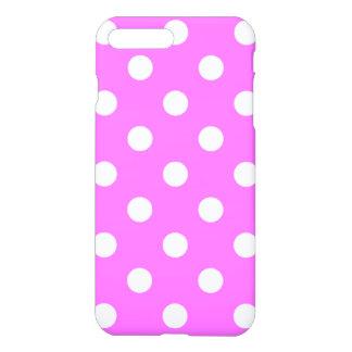 Lunares enormes - blanco en ultra rosado funda para iPhone 7 plus