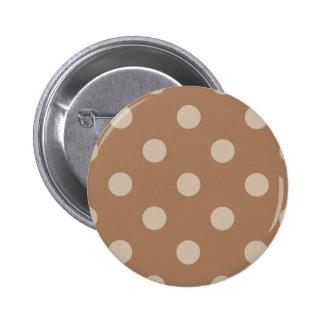 Lunares enormes - marrón claro en Brown Chapa Redonda 5 Cm