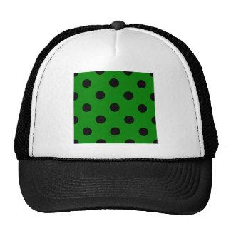 Lunares enormes - negro en verde gorro